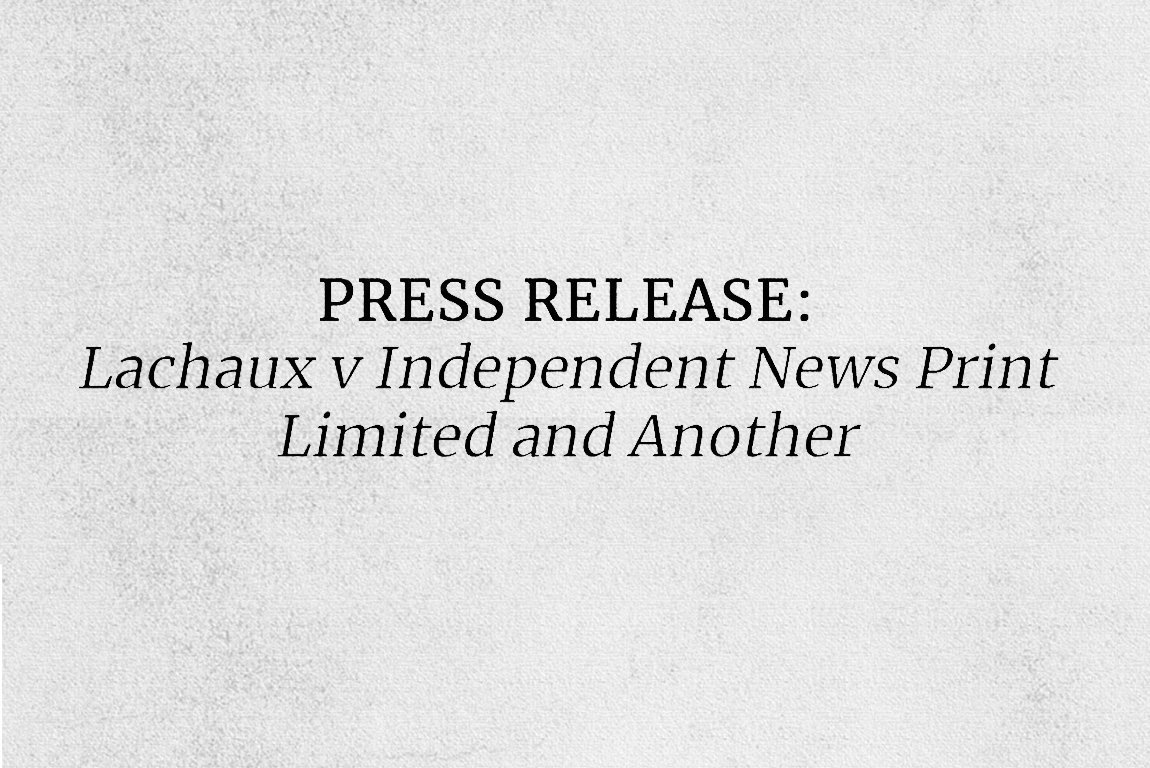 Lachaux v Independent News Print